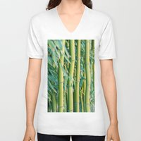 bamboo V-neck T-shirts featuring Bamboo by Laura Ruth