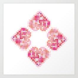 Heart Pop Art Print
