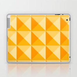 Geometric Prism in Sunshine Yellow Laptop & iPad Skin