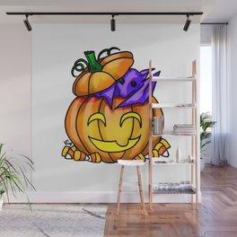 Batty Pumpkin Wall Mural