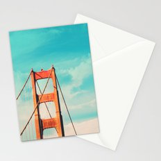 Retro Golden Gate - San Francisco, California Stationery Cards