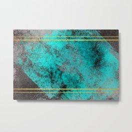 Textured Turquoise Diamonds Metal Print