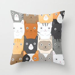 Herded Cats Throw Pillow