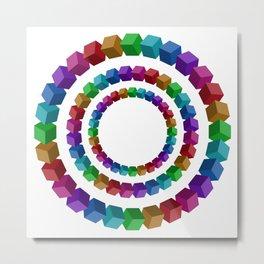 Circles illustion penrose Metal Print
