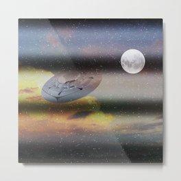 What is Reality?  Fun UFO image Metal Print