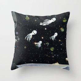 Exporing The Night's High Throw Pillow