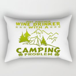 Wine & Camping Rectangular Pillow