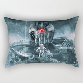 Audience With The Titan Rectangular Pillow