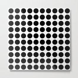 Pattern / GFTpattern032 / Black dots White Background  Metal Print