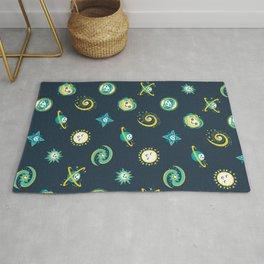 Pastel space pattern - dark Rug