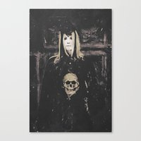 motivational Canvas Prints featuring Gothic Motivational  by Galen Valle