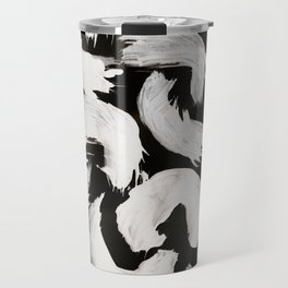 Cocoon, Abstract, White & Black Travel Mug