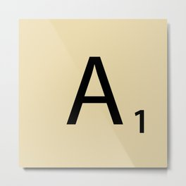 Scrabble Piece A1 Metal Print