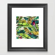 Local Bananas Framed Art Print
