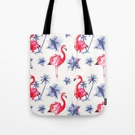 Beach Flamingos Tote Bag