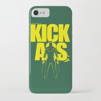 ass iPhone & iPod Cases featuring KICK ASS by justjeff