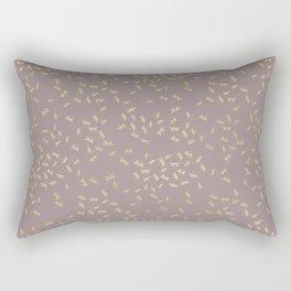 Dragonflies on purple - gold touch Rectangular Pillow