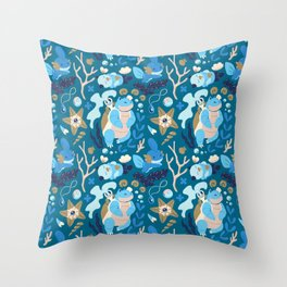 Tropical Water Type Throw Pillow