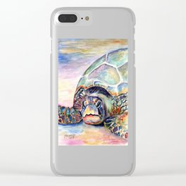 Turtle at Poipu Beach Clear iPhone Case