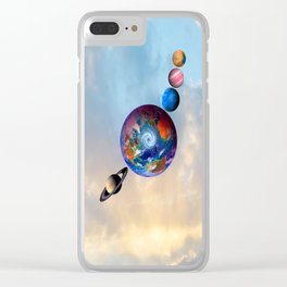 Gaia's friends #society6 Clear iPhone Case