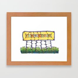 Funky yellow architectural design 51 Framed Art Print