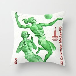 1979 XXII Summer Olympics Throw Pillow