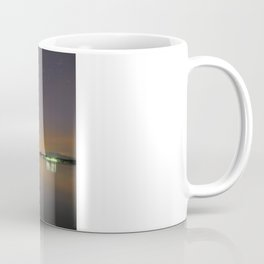 The Big star Sirius the Costelation of Orion and Taurus  reflected at the lake Coffee Mug