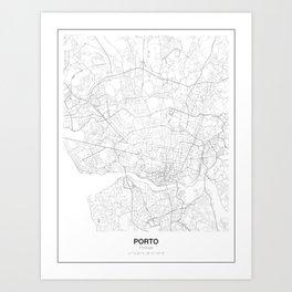 Porto, Portugal Minimalist Map Art Print