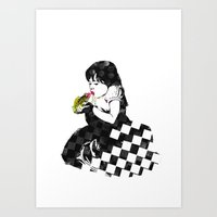 A kiss for my prince Art Print