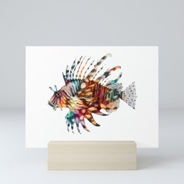 Lion Fish Rainbow Mini Art Print