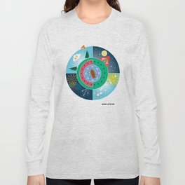 summers on the lake Long Sleeve T-shirt