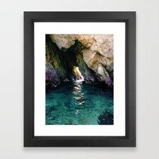Colorful Ocean Cave Framed Art Print
