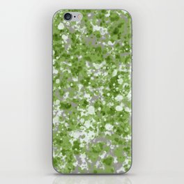 Splatter Painting with Pantone Green, Tan and White iPhone Skin