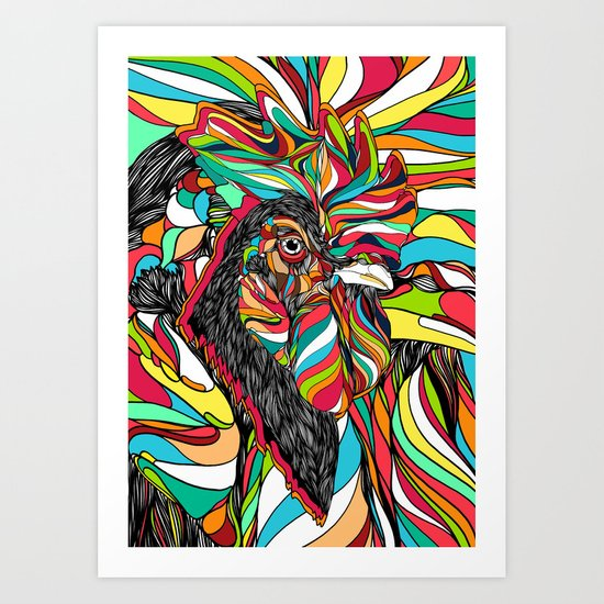 Tropical Cock (Feat. Bryan Gallardo) Art Print