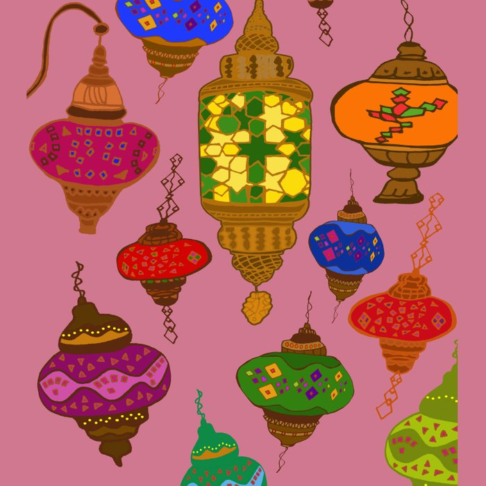 Istanbul lamps Comforters