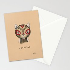 Cat Wrestler Stationery Cards