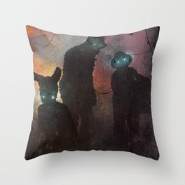 A Town Meeting Throw Pillow