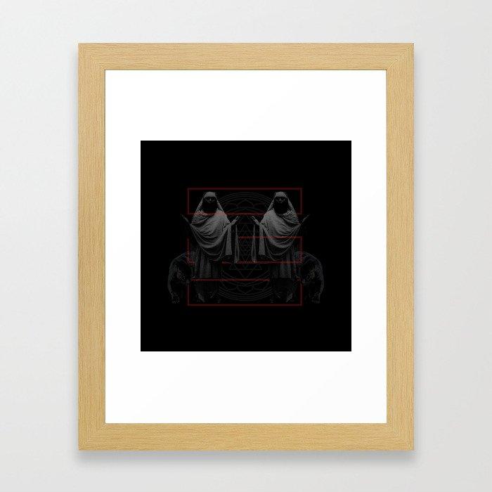 Black Sages Framed Art Print