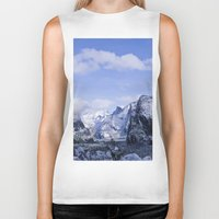 yosemite Biker Tanks featuring Yosemite by Ian Bevington