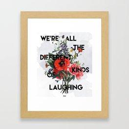 Laughing Framed Art Print
