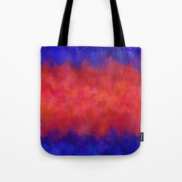 Red Pink Blue Color Explosion Abstract Tote Bag