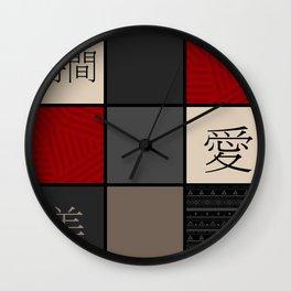 Beauty , love , life Wall Clock
