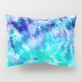 modern boho blue turquoise watercolor mermaid tie dye pattern Pillow Sham