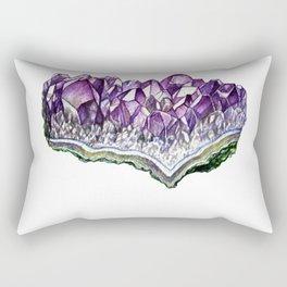 Amethyst in watercolour Rectangular Pillow