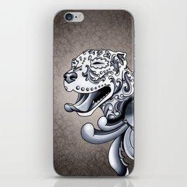 Ornamental Pit Bull - Black and Grey Filigree Pitbull iPhone Skin
