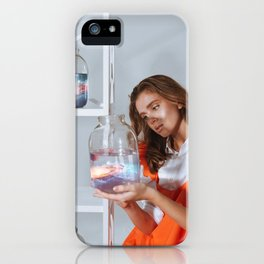 Casually inspecting the alternate universe for defects. iPhone Case