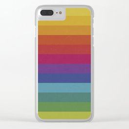 The Color Wheel / Rainbow Stripes Clear iPhone Case
