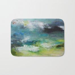 Abstract Digital Art from Original Painting Bath Mat