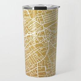 Gold Edinburgh map Travel Mug