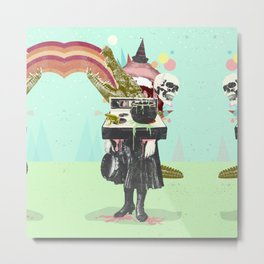 SURREAL WITCH Metal Print
